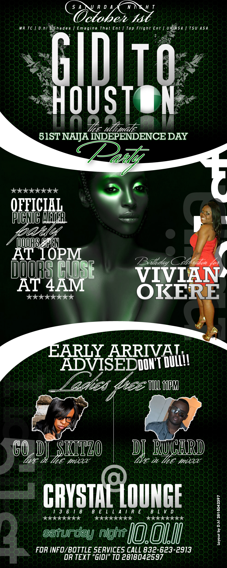 THE PARTY CONTINUES AT CRYSTAL LOUNGE ON SAT OCT 1ST AT CRYSTAL LOUNGE....DON'T MISS IT